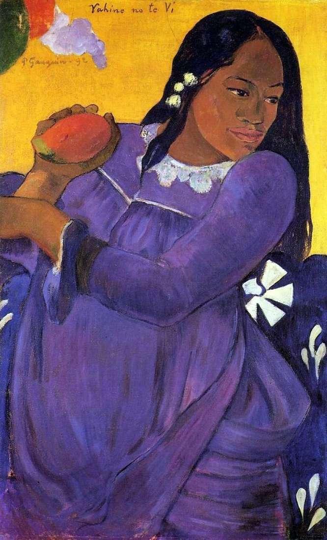 Женщина с манго (Девушка с плодом манго)   Поль Гоген