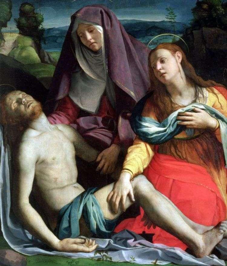 Мертвый Христос с Богоматерью и Марией Магдалиной (Пьета)   Аньоло Бронзино