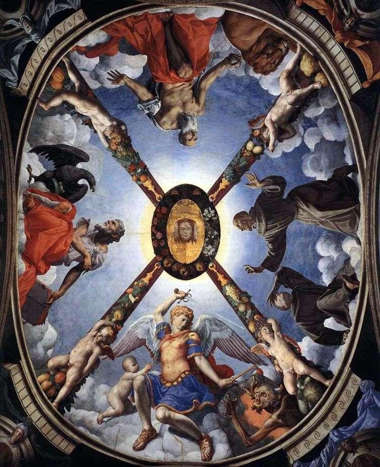 Художественное оформление, роспись потолка   Аньоло Бронзино