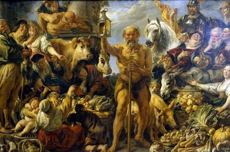 Диоген, ищущий Человека   Якоб Йорданс