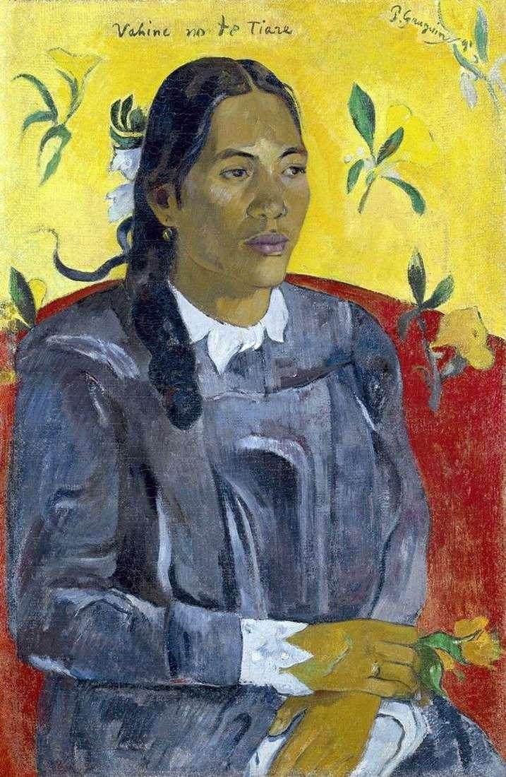 Женщина с цветком   Поль Гоген