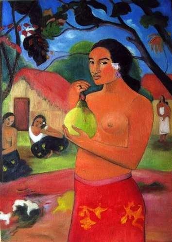 Женщина, держащая плод   Поль Гоген