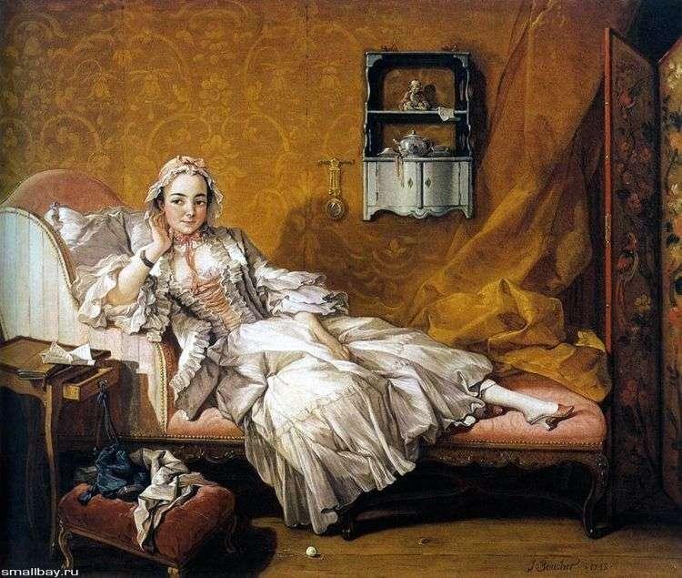 Портрет жены художника Мари Жанне Бюзо   Франсуа Буше