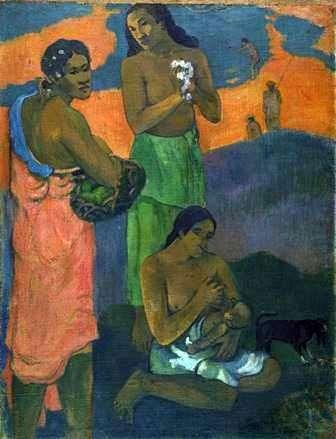 Женщины на берегу моря (Материнство)   Поль Гоген