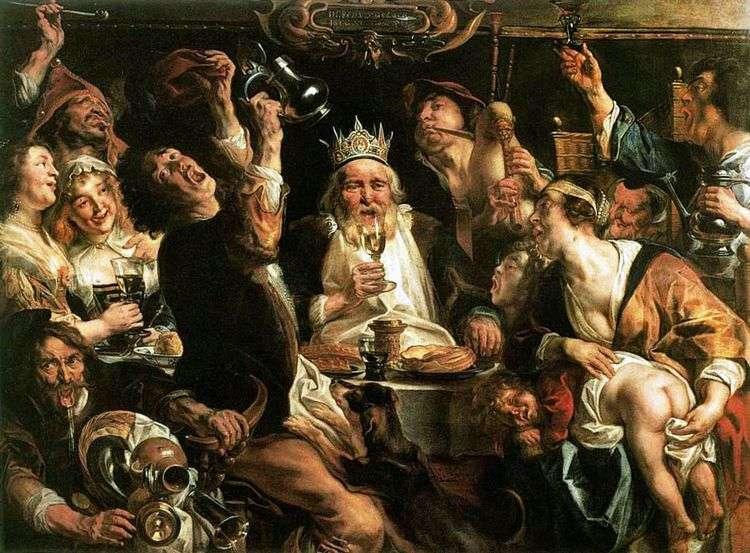 Король пьет   Якоб Йорданс