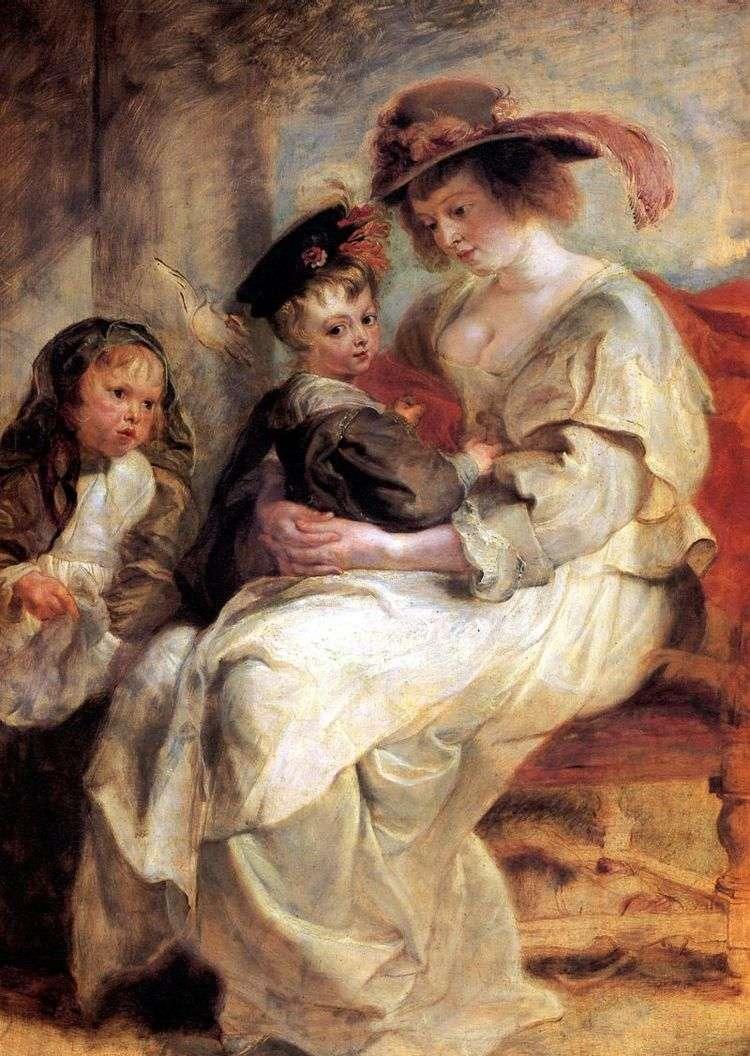 Портрет Елены Фоурмен с двумя детьми   Питер Рубенс
