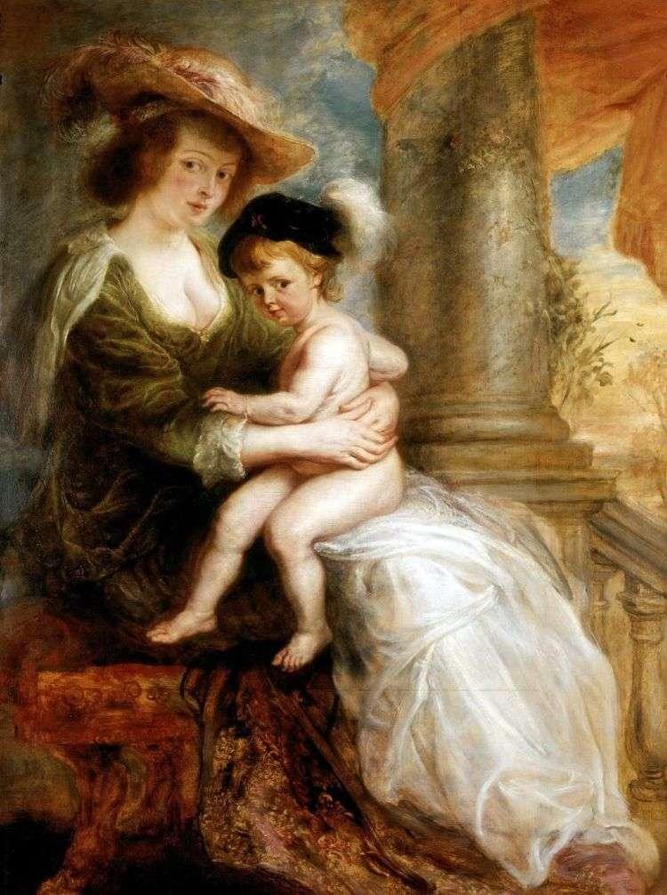 Портрет Елены Фоурмент с ее старшим сыном Францем   Питер Рубенс