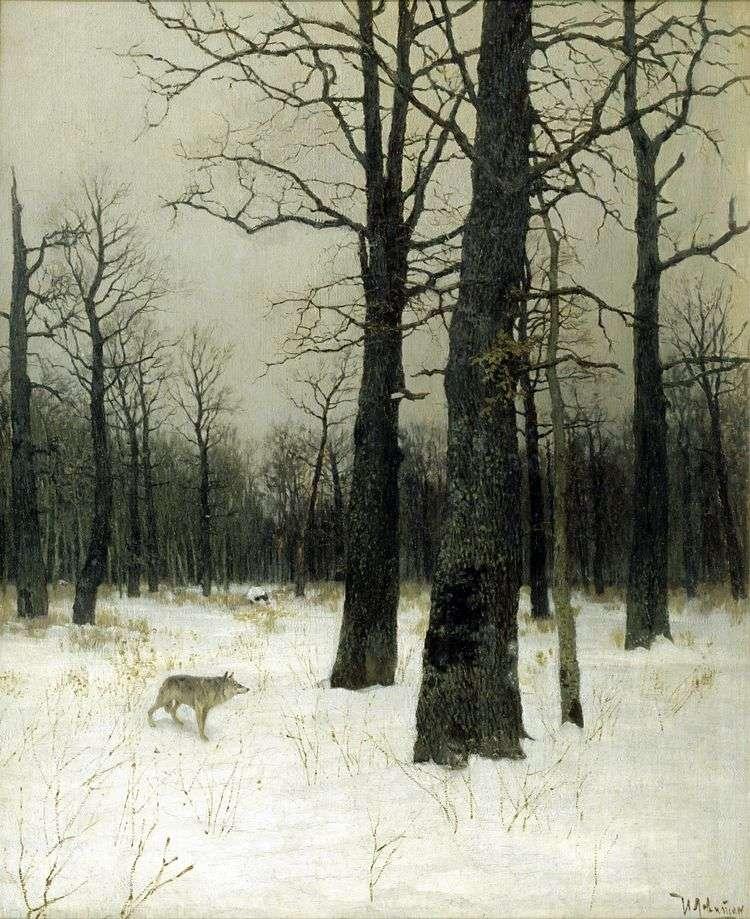 Зимой в лесу   Исаак Левитан