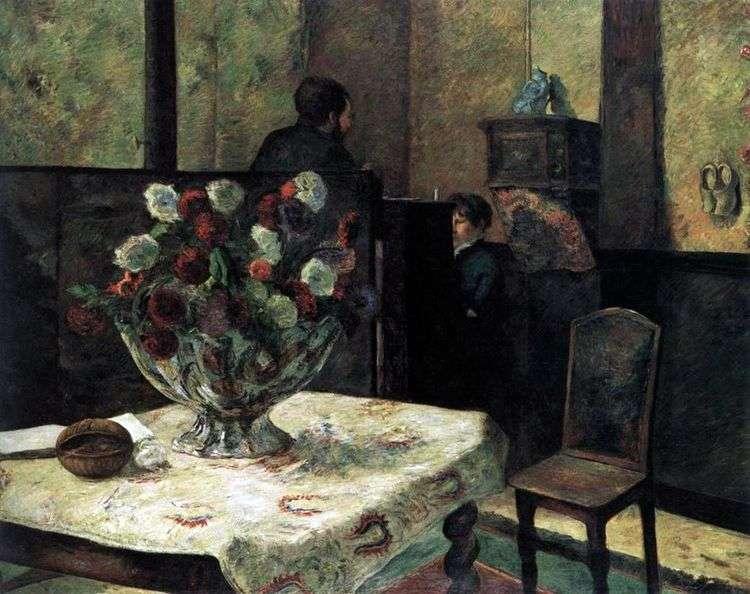 Интерьер дома художника на рю Карсель   Поль Гоген