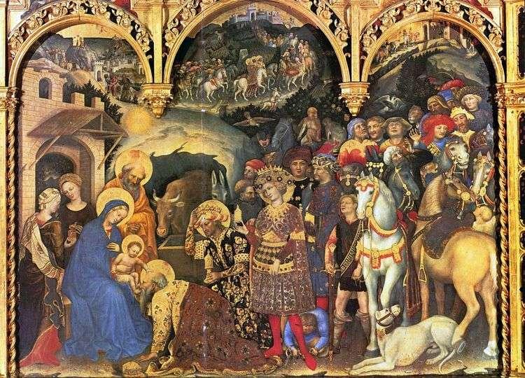 Поклонение волхвов   Джентиле да Фабриано