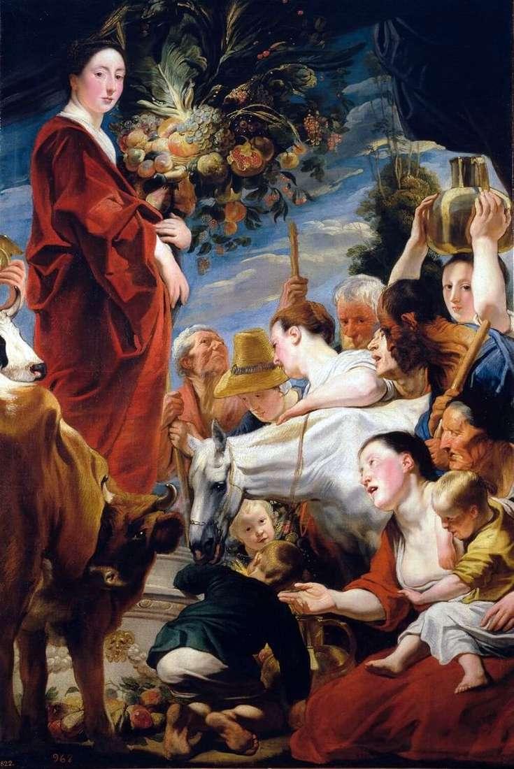 Подношение Церере, богине урожая   Якоб Йорданс