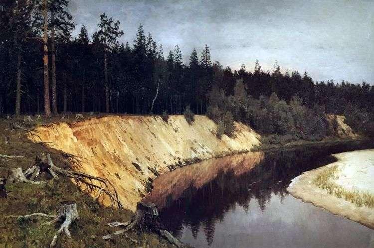 Лесистый берег   Исаак Левитан