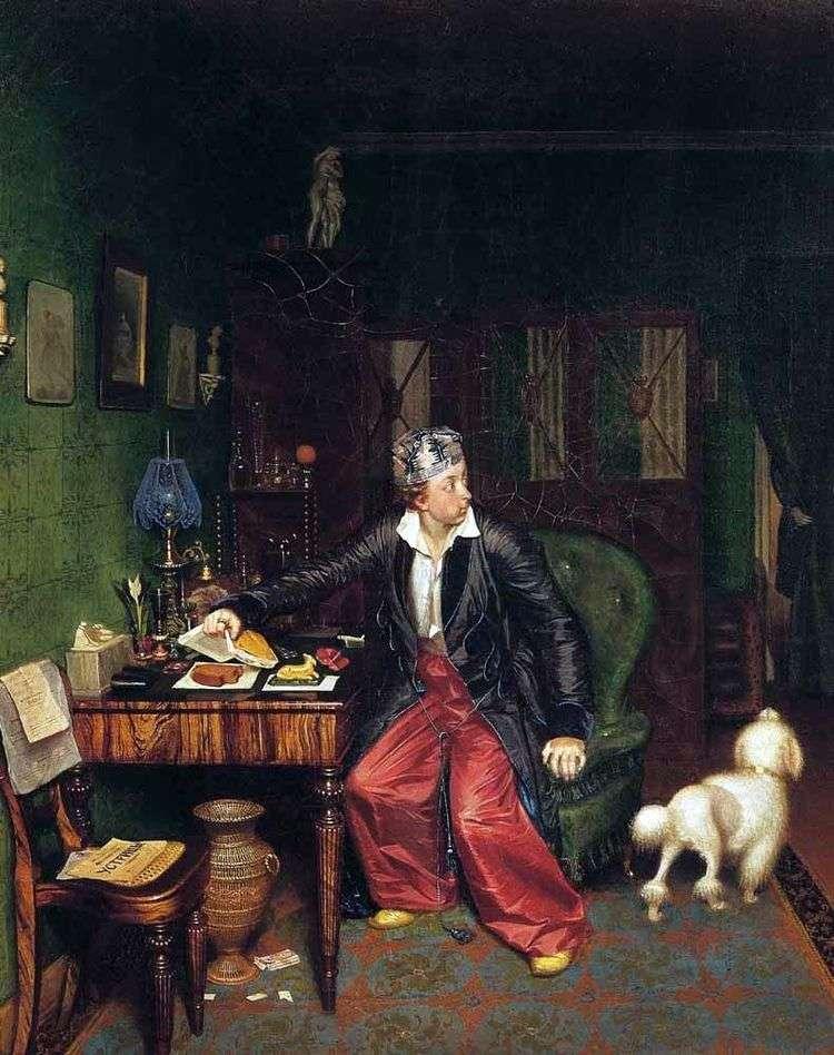Завтрак аристократа   Павел Федотов