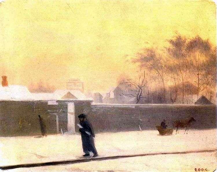 Зимний день   Павел Федотов