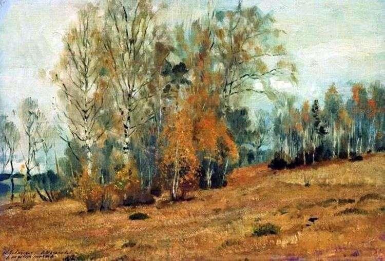 Октябрь (Осень)   Исаак Левитан