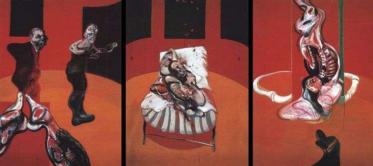 Три этюда фигур у Распятия   Фрэнсис Бэкон