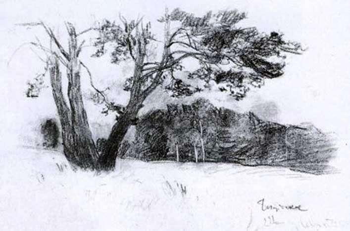 Опушка леса   Исаак Левитан