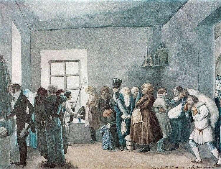 Передняя частного пристава накануне большого праздника   Павел Федотов