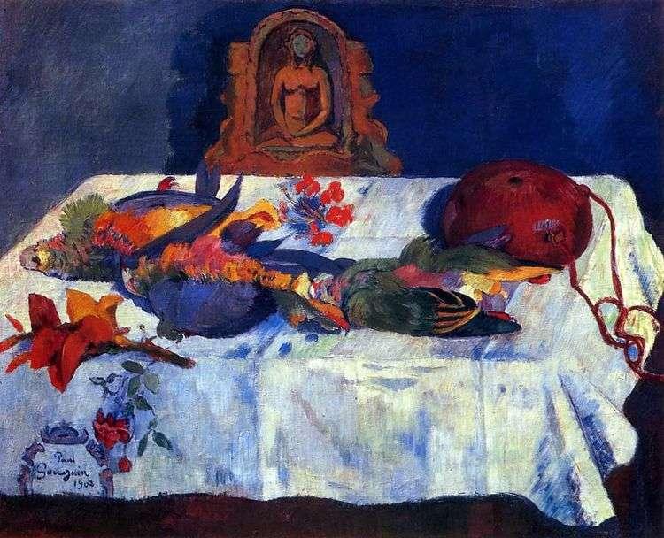 Натюрморт с Попугаями   Поль Гоген