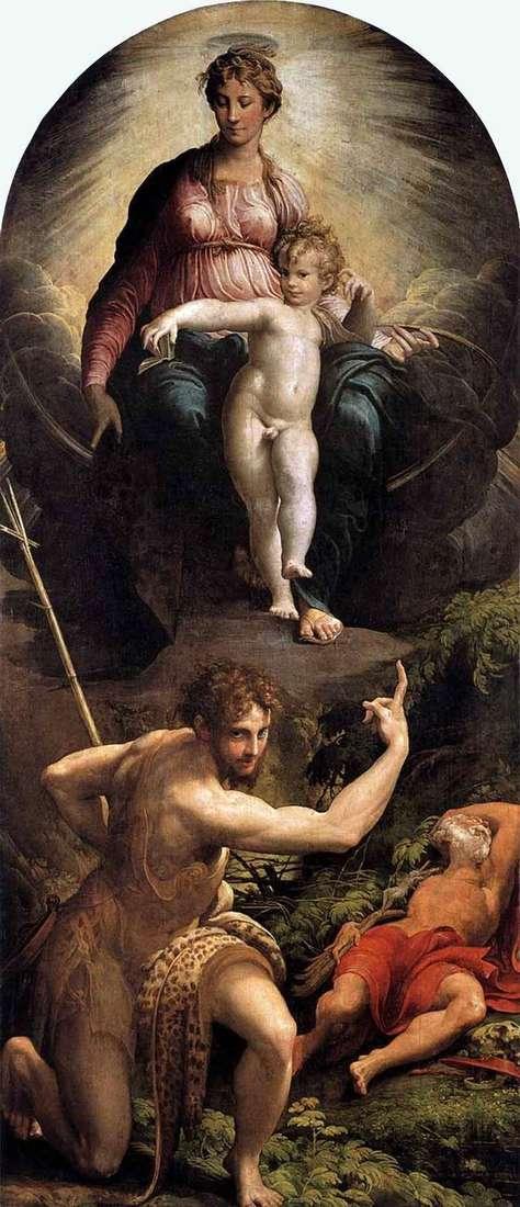 Видение святого Иеронима   Франческо Пармиджанино