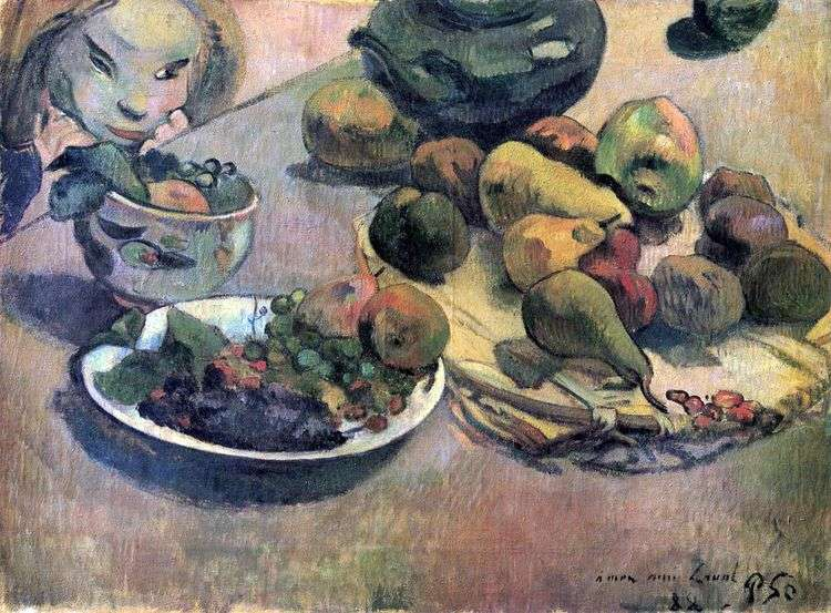 Натюрморт с фруктами   Поль Гоген