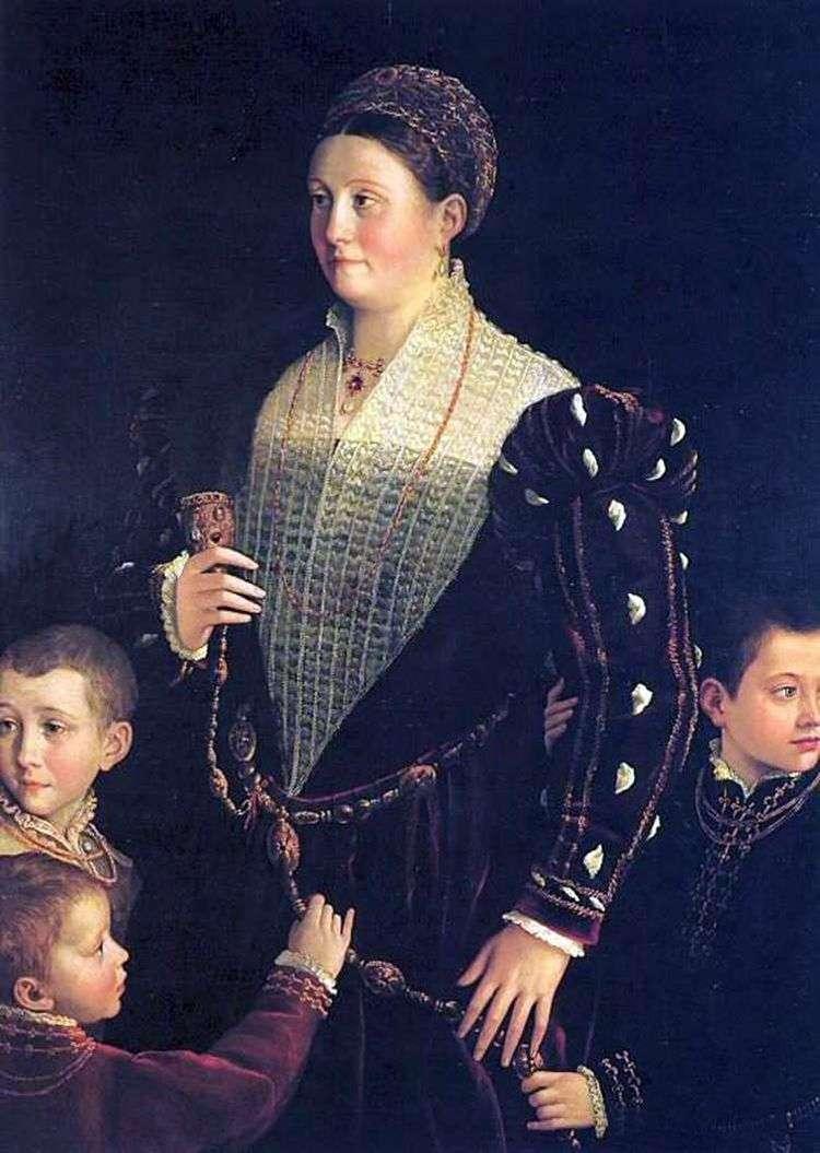 Виконтесса Сансекондо с детьми   Франческо Пармиджанино