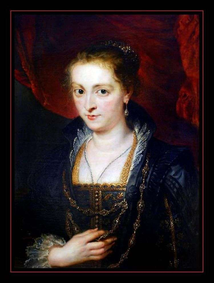Поясной портрет дамы   Питер Рубенс