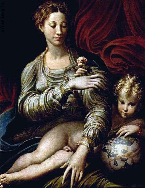 Мадонна с розой   Франческо Пармиджанино