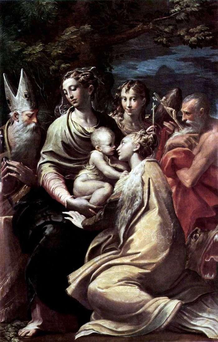 Мадонна со святой Маргаритой и другими святыми   Франческо Пармиджанино