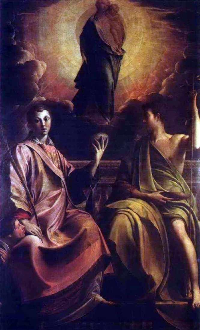 Мадонна, святой Стефан и Иоанн Креститель   Франческо Пармиджанино