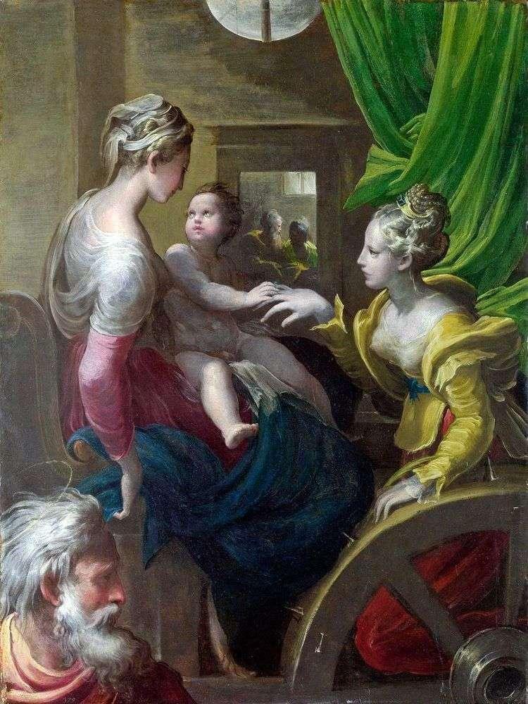 Мистическое обручение Святой Екатерины   Франческо Пармиджанино