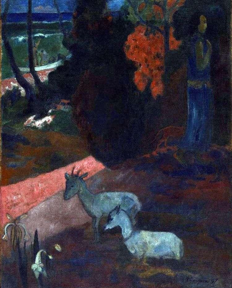 Пейзаж с двумя козами   Поль Гоген