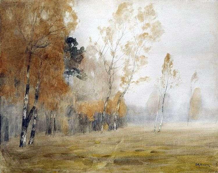 Туман. Осень   Исаак Левитан