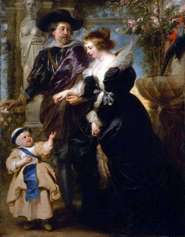 Рубенс, его жена и сын   Питер Рубенс