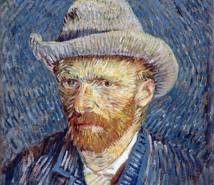 Автопортрет в серой фетровой шляпе III   Винсент Ван Гог