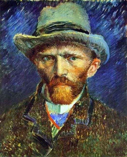 Автопортрет в серой шляпе   Винсент Ван Гог