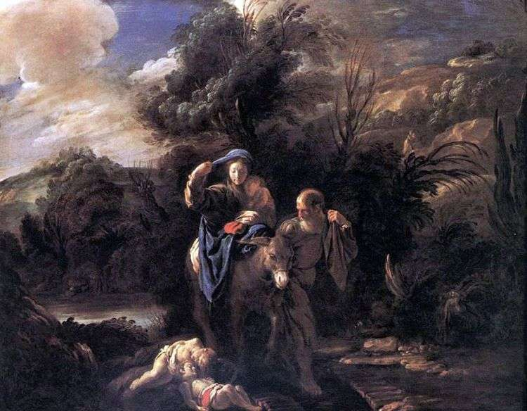 Бегство в Египет   Доменико Фетти