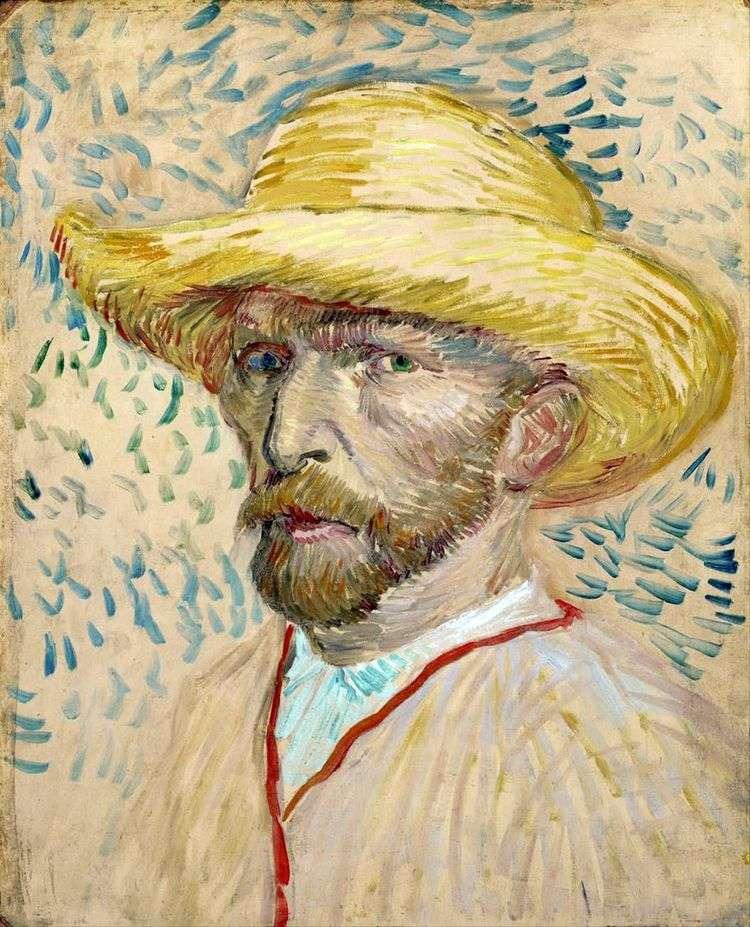 Автопортрет в соломенной шляпе II   Винсент Ван Гог