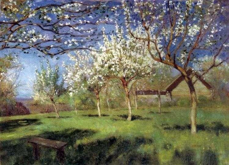 Цветущие яблони   Исаак Левитан