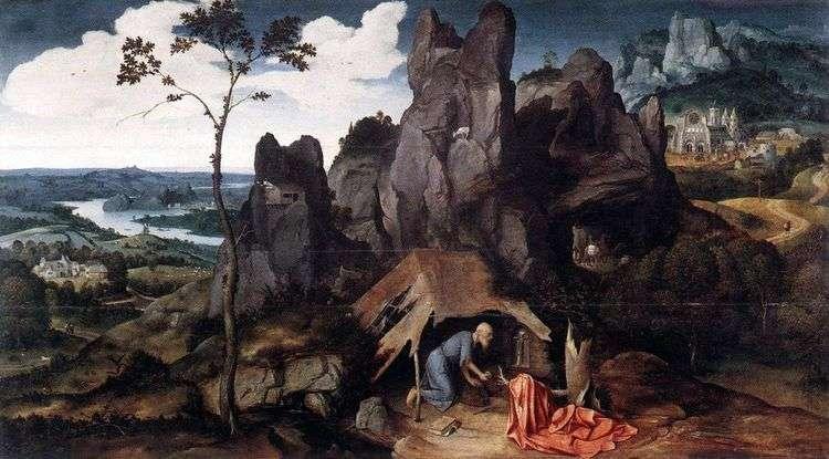 Св. Иероним в пустыне   Йоахим Патинир