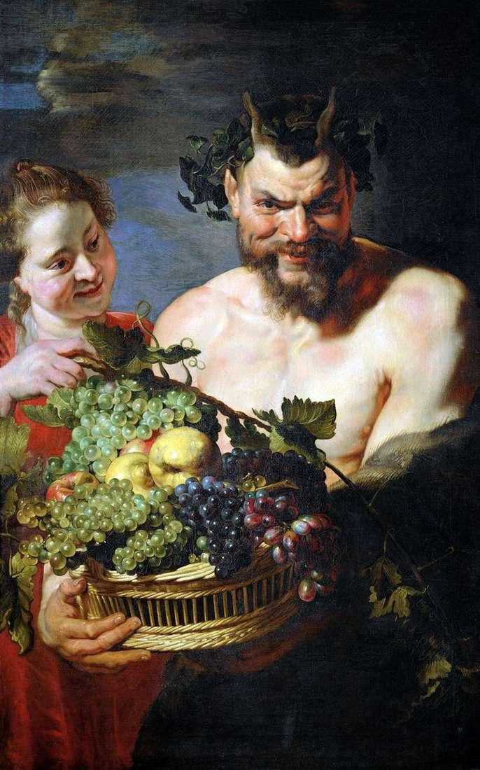 Сатир и девочка   Питер Рубенс
