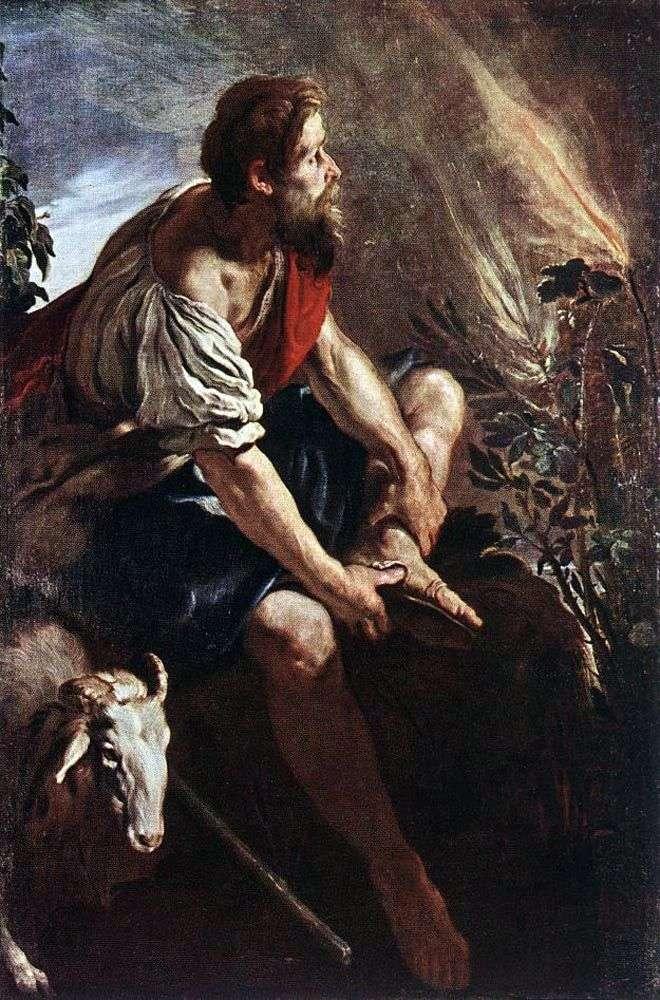 Моисей перед пылающим кустом   Доменико Фети