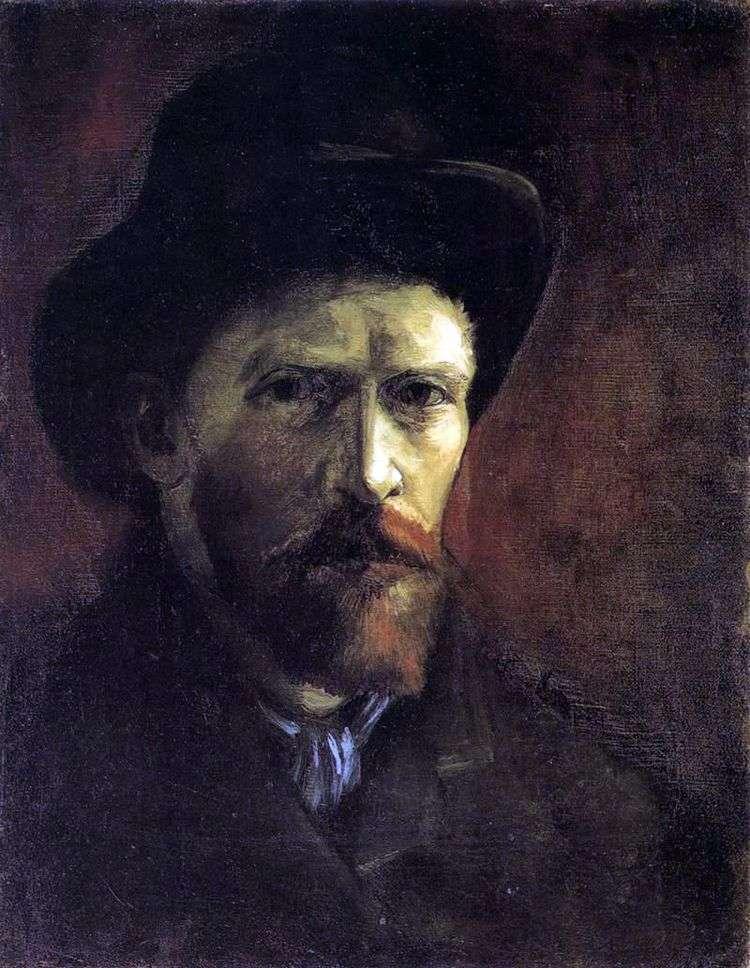 Автопортрет в темной фетровой шляпе   Винсент Ван Гог