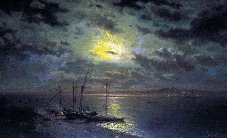 Лунная ночь на реке   Лев Каменев