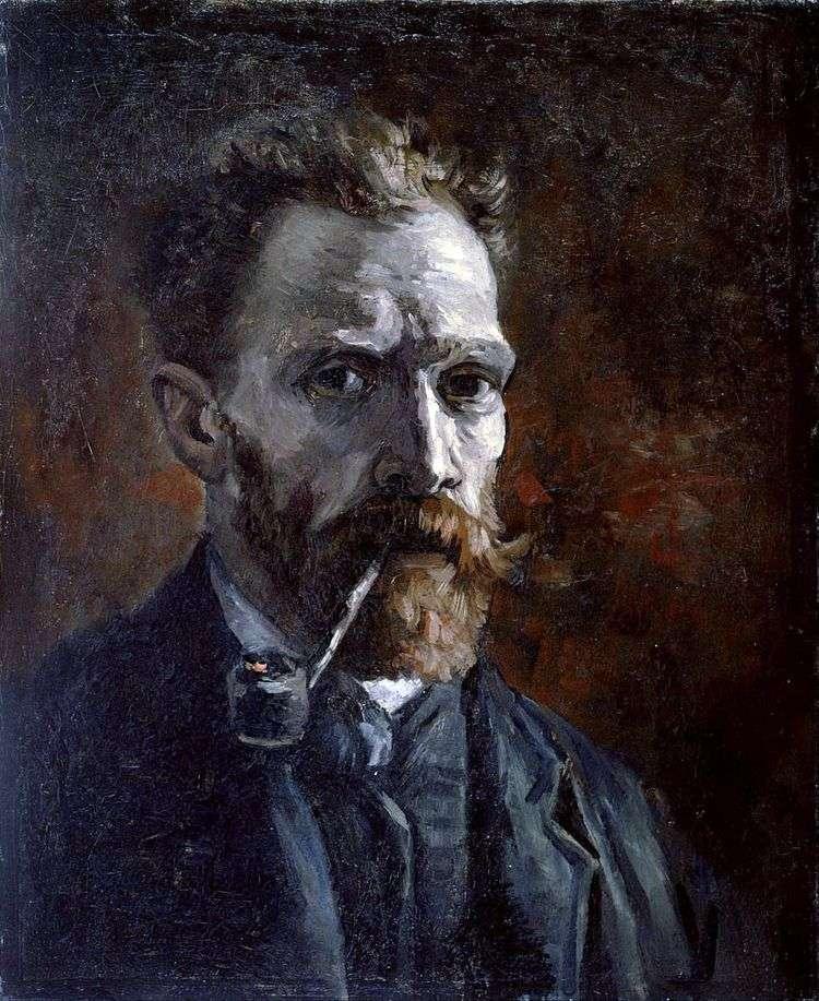 Автопортрет с трубкой   Винсент Ван Гог