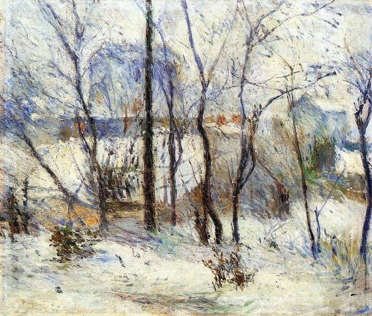 Сад в снегу   Поль Гоген