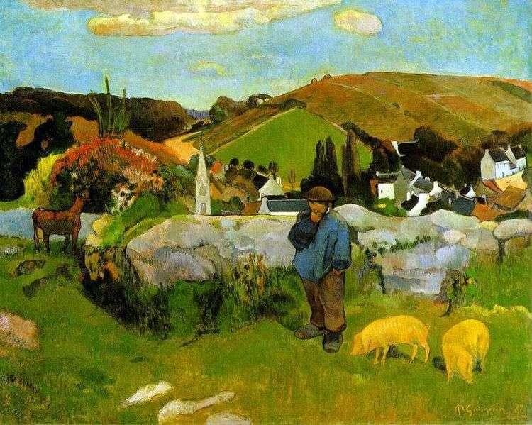Свиное стадо, Бретань   Поль Гоген