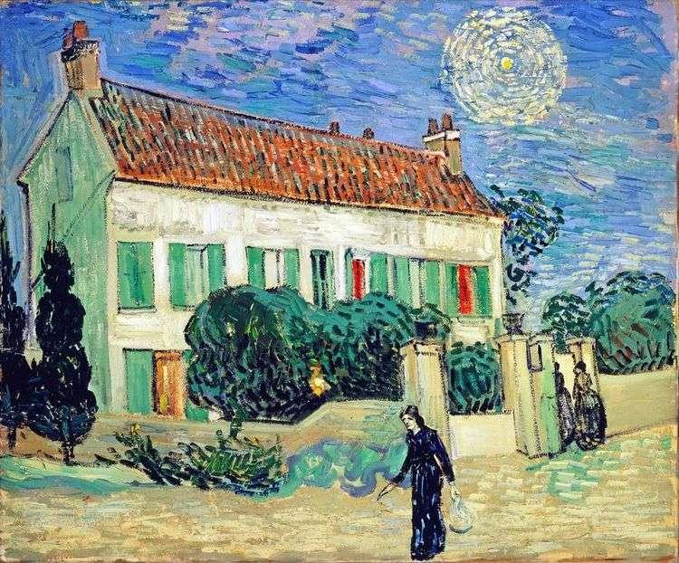 Белый дом ночью   Винсент Ван Гог