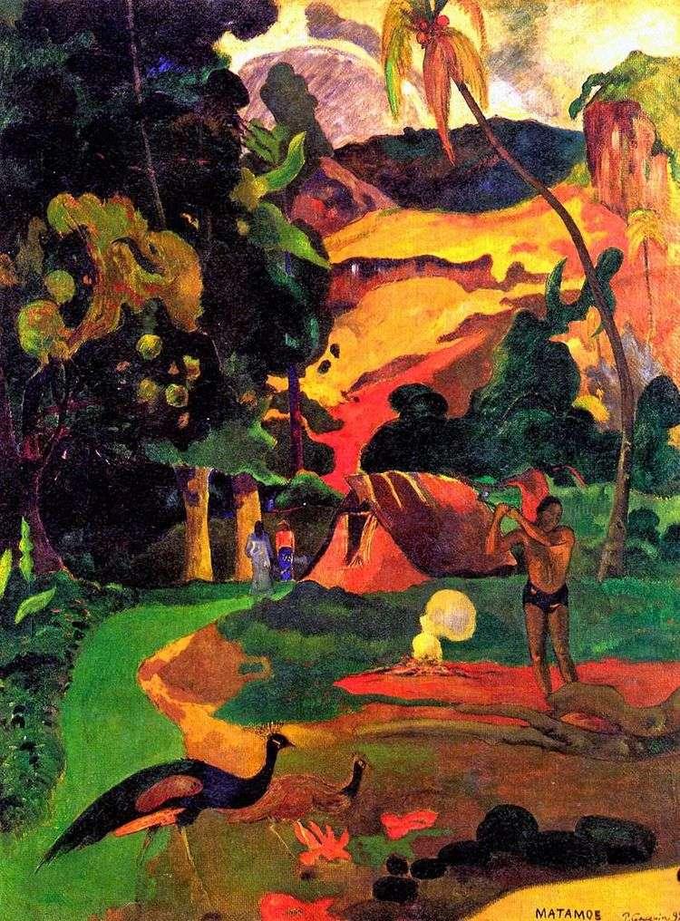 Смерть. Пейзаж с павлинами   Поль Гоген