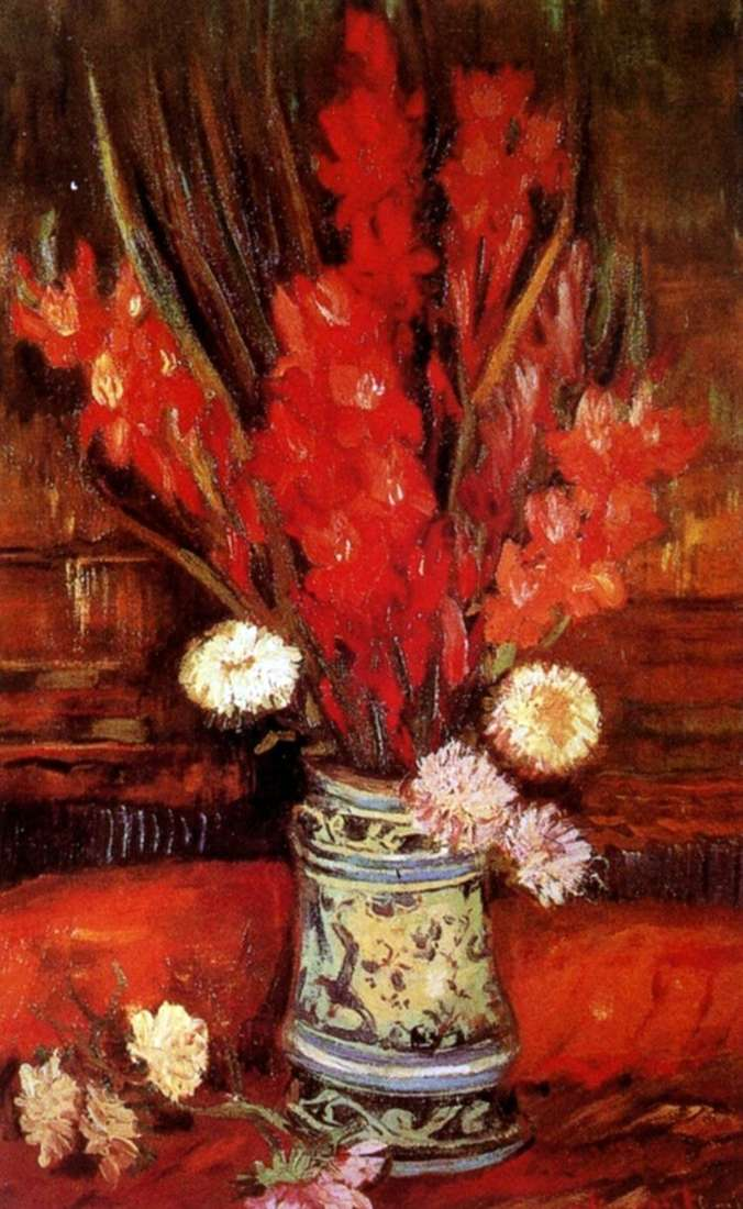 Ваза с красными гладиолусами II   Винсент Ван Гог